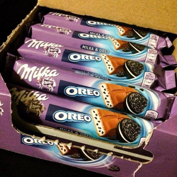 Шоколадный батончик Oreo Milka 37g ЭСТОНИЯ