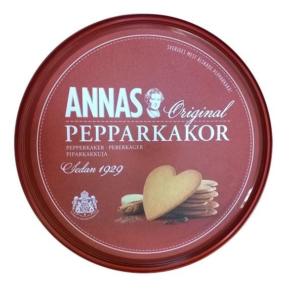 Печенье имбирное Annas Original Pepparkakor банка 375 гр ФИНЛЯНДИЯ