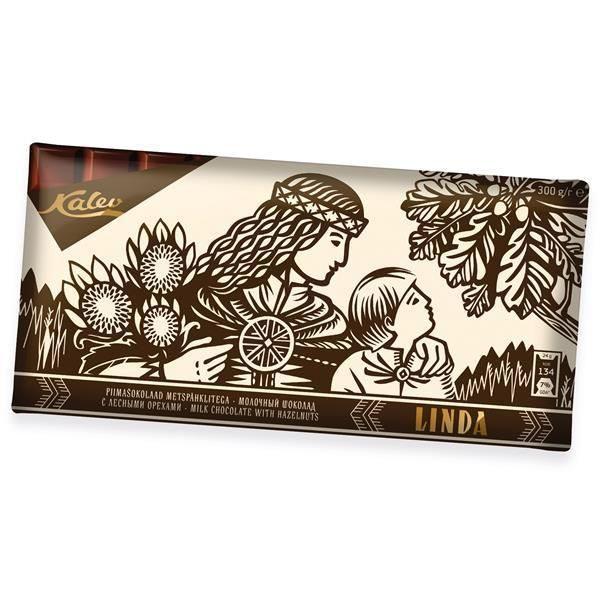 Linda молочный шоколад с лесными орехами 300г ЭСТОНИЯ