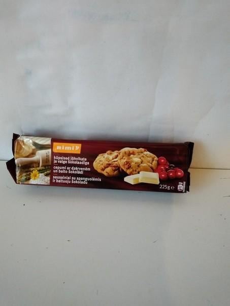 Овсяное печенье Rimi с кусочками белого шоколада и ягодами 225 г ЭСТОНИЯ