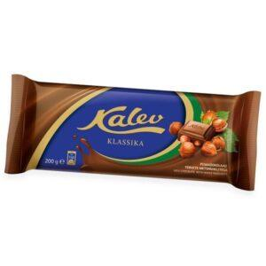Kalev молочный шоколад с целыми лесными орехами 200г ЭСТОНИЯ