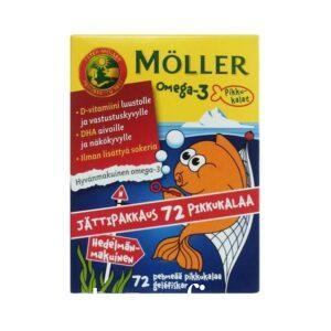 Рыбки Moller OMEGA-3 Омега-3 жирные кислоты и витамин D 72 шт
