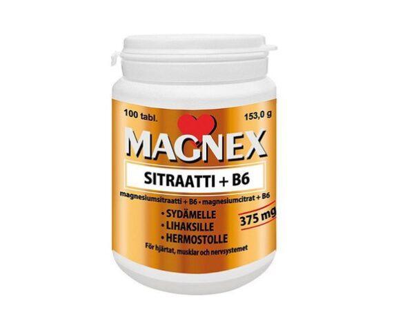 Витамины с магнием и B6 Magnex Sitraatti + B6 375mg 100 таблеток