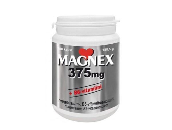 Витамины с магнием Magnex 375 mg + B6 180 таблеток