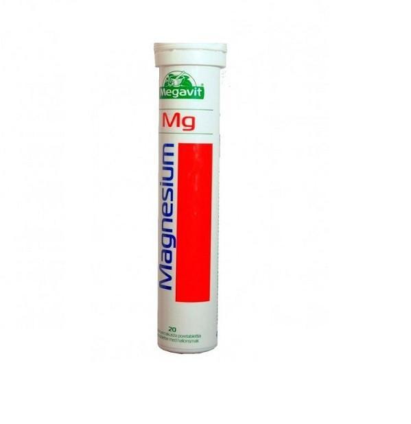 Шипучие таблетки MEGAVIT Magnesium с магнием 20 шт