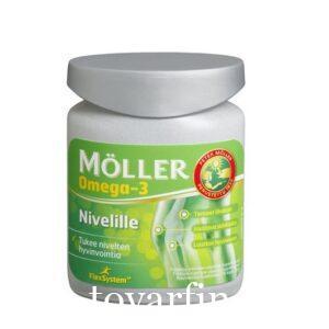 Рыбий жир Moller Omega- 3 Nivelille для суставов 76 капсул