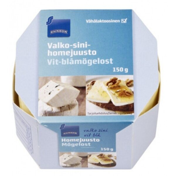 Сыр Rainbow Valko-Sinihomejuusto (С Бело-Голубой Плесенью) 150 Гр.