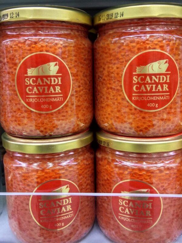 Икра форели соленая 400гр Scandicaviar