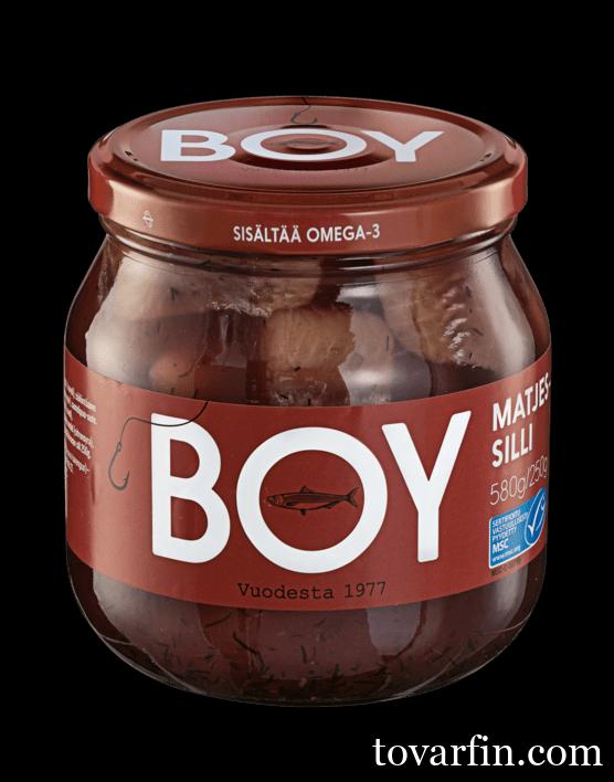 Сельдь матье в маринаде Boy 580 гр