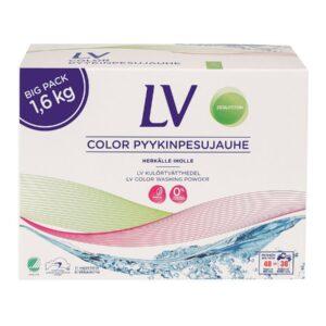LV Концентрированный стиральный порошок для цветного белья, 1,6 кг