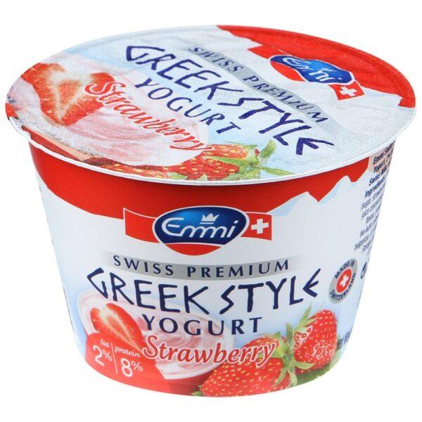 Йогурт Emmi Греческий Greek style с клубникой 2% 150 г