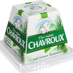 Сыр Шавру с зеленым луком Иль де Франс 150 гр. из козьего молока
