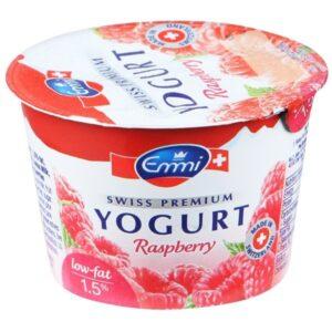 Йогурт Премиум с малиной 100гр  Эмми (Швейцария)