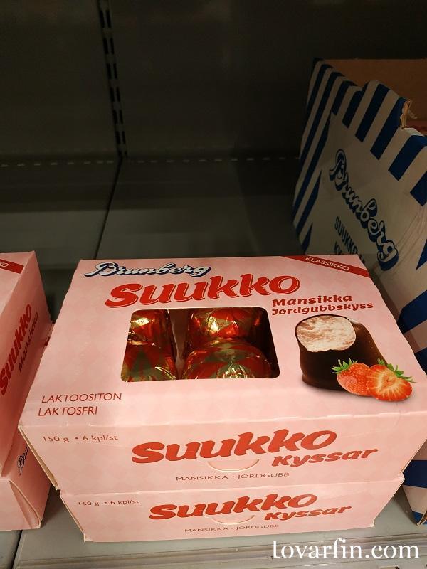 Суфле в шоколаде без лактозы Клубника 150г Brunberg