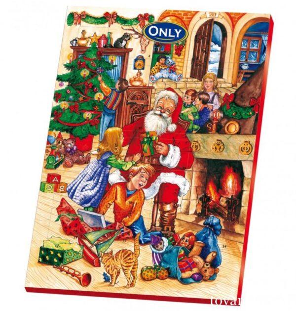 Новогодний шоколадный календарь Only 75г