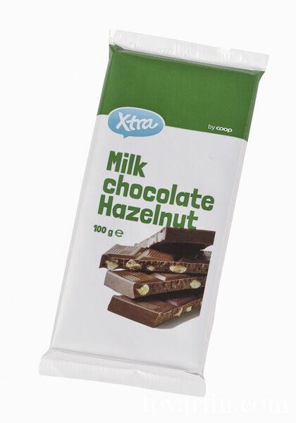 Молочный шоколад с орехами XTRA 100г