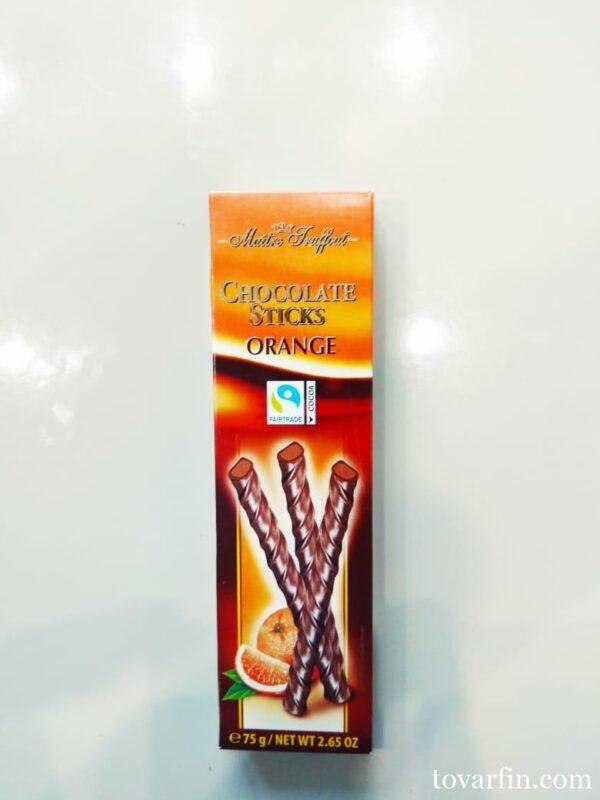 Maitre Truffout Шоколадные палочки c апельсином, 75 гр.