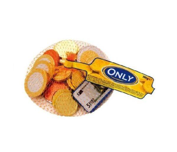 Молочный шоколад фигурный «Банкноты и золотые монеты» Only 100 гр