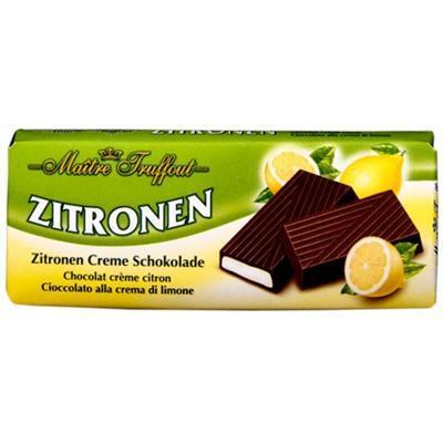 Шоколад темный с начинкой Лимон Maitre Truffout, 100гр