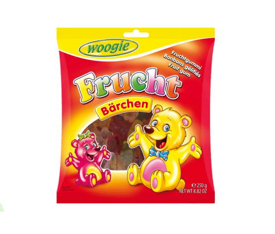 Жевательные конфеты мишки Woogie 250 гр