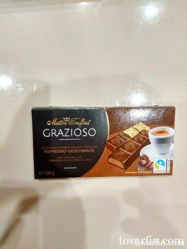 Шоколад Maitre Truffout темный со вкусом Эспрессо, порционный 100г
